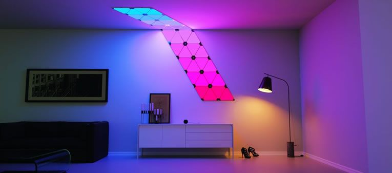 designer fashion c7f3c 18f6d Nanoleaf Aurora Smart Lighting Panels Unleash Creativity In ...