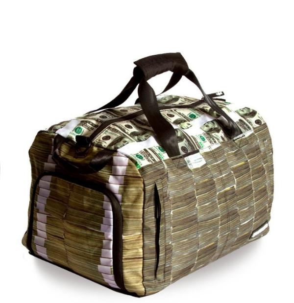 Money Stacks Duffle By Sprayground Men S Gear Money Bag Bags Cash Bag