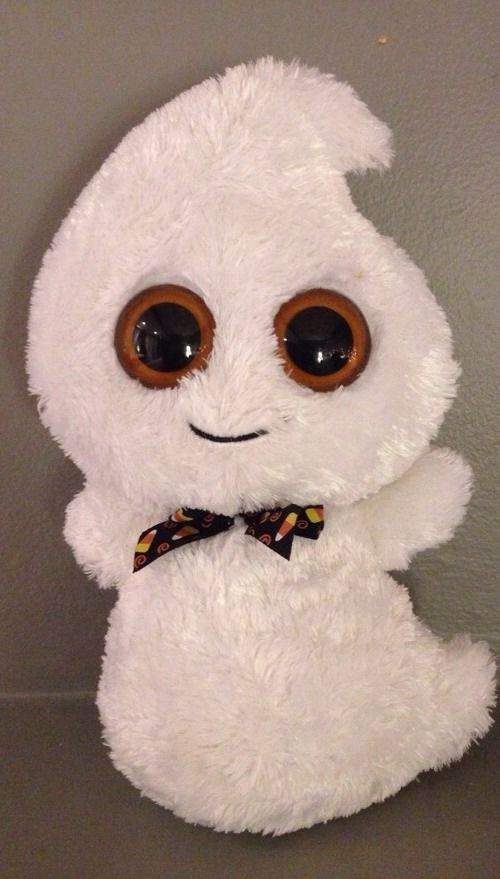 Just got my little brother into Beanie Boos! He s been after this cute  little ghost since I got him introduced. f9f8d96027a0