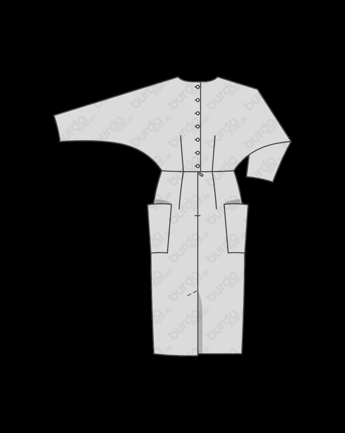 Blusen-Kleid H/W 2017 #6451A | Schnittmuster bluse, Blusen und ...