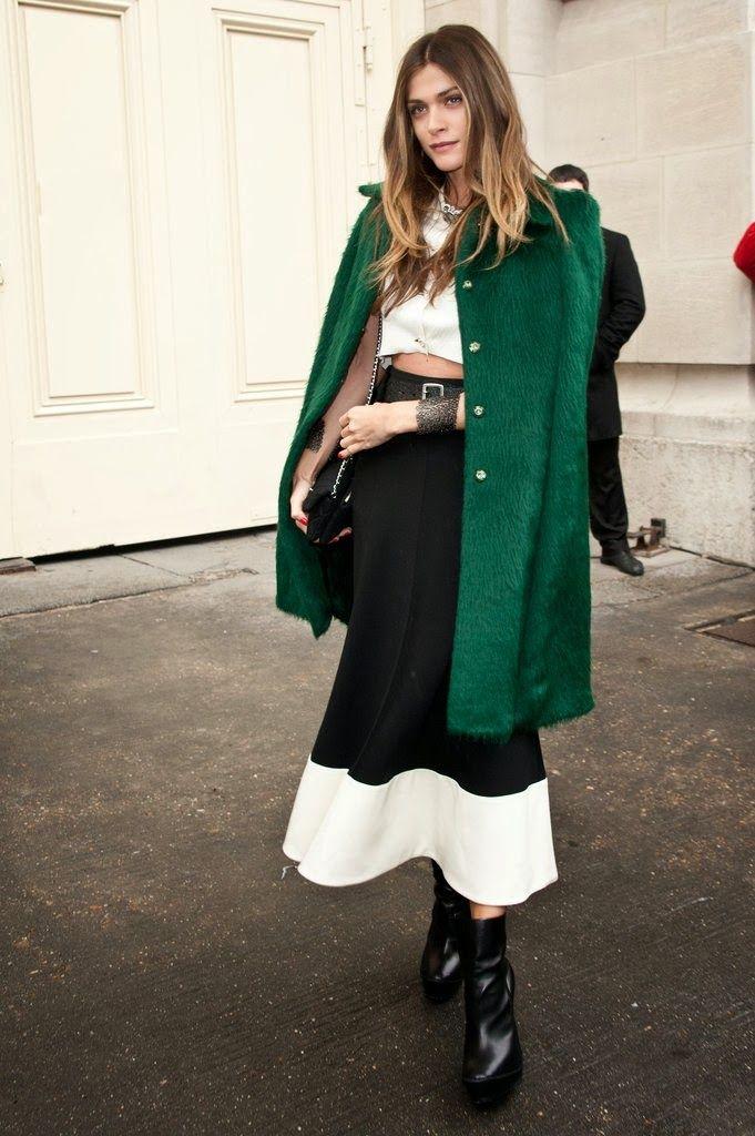 Ultra chic manteau vert.