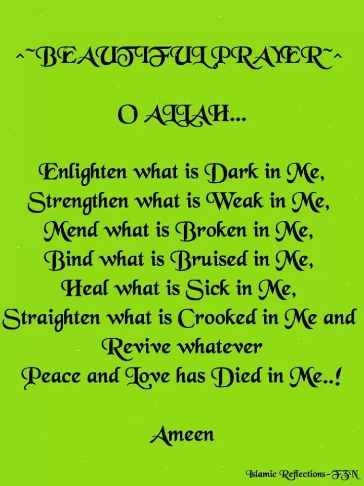 Beautiful prayer...
