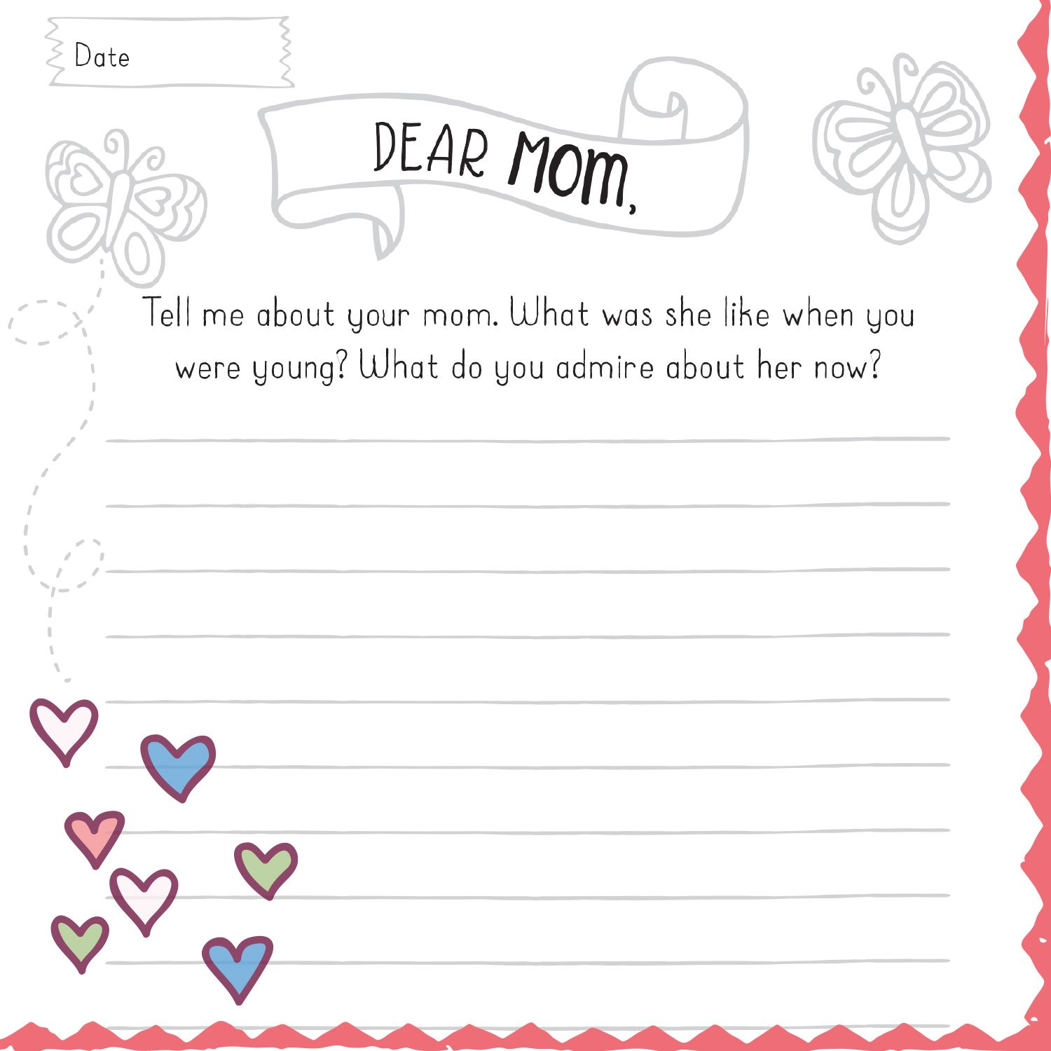 Mother Daughter Journal Love Mom And Me Motherhood Books Mother Daughter Journal Creative Writing Prompts [ 1500 x 1500 Pixel ]