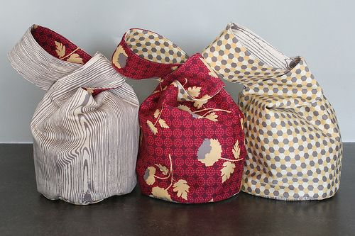 Two tutorials linked to this post for Japanese Knot Bags.