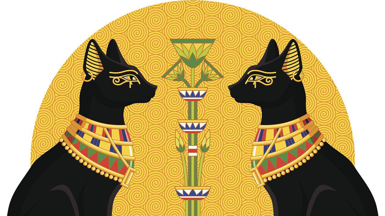 коты в египте рисунок ажур спицами светлана