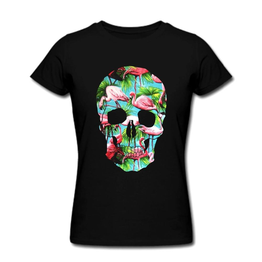 61438fdbeb78e Skull Fashion T-Shirt 2017 Summer Short Sleeve T Shirt Tee Tops Couples Tee  Christmas Gift Women Men Birthday Tee