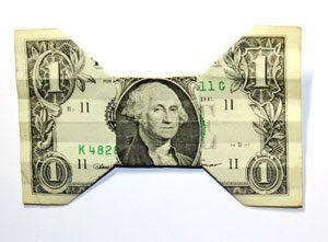 Origami Dollar Bill Bow Tie
