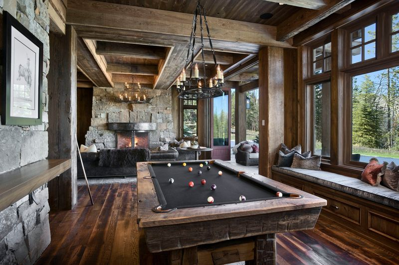 Take Your Cue Planning A Pool Table Room Rustic Family Room Pool Table Room Game Room