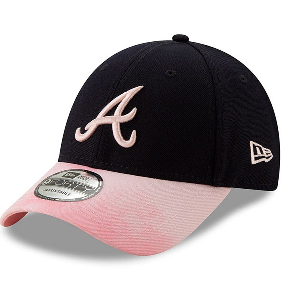 9990c906d9afe Atlanta Braves New Era 2019 Mother s Day 9FORTY Adjustable Hat - Navy Pink