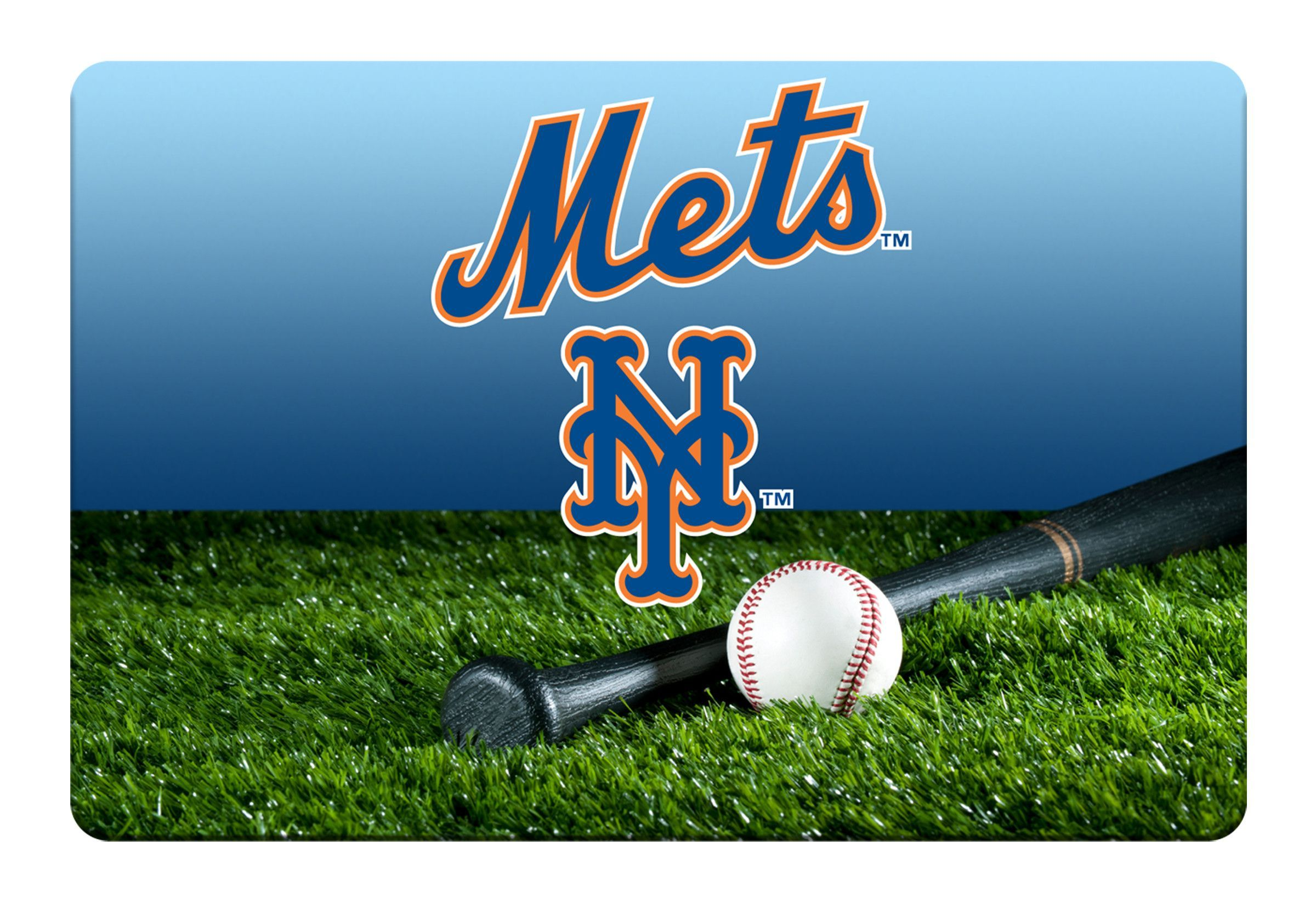 New York Mets Baseball Pet Bowl Mat-L