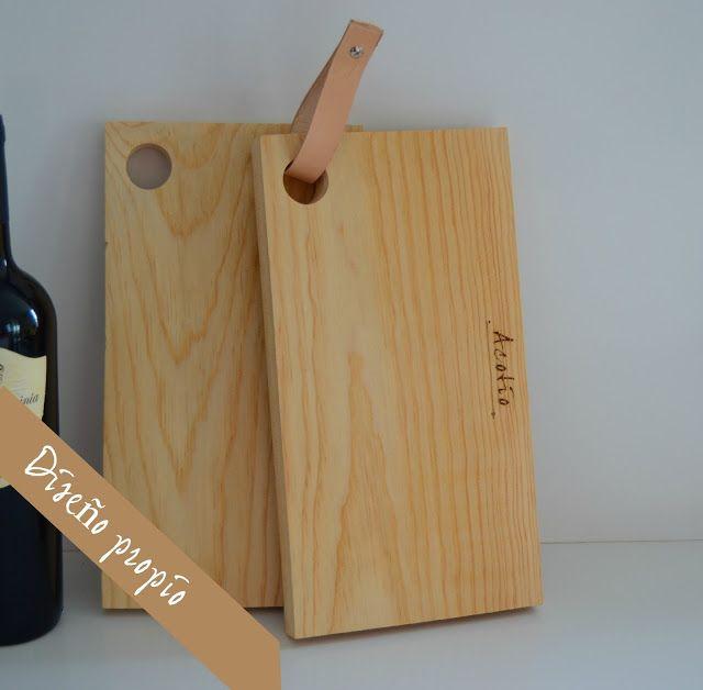 Tablas de madera diferentes para la cocina tienda acotio - Decorar tabla madera ...