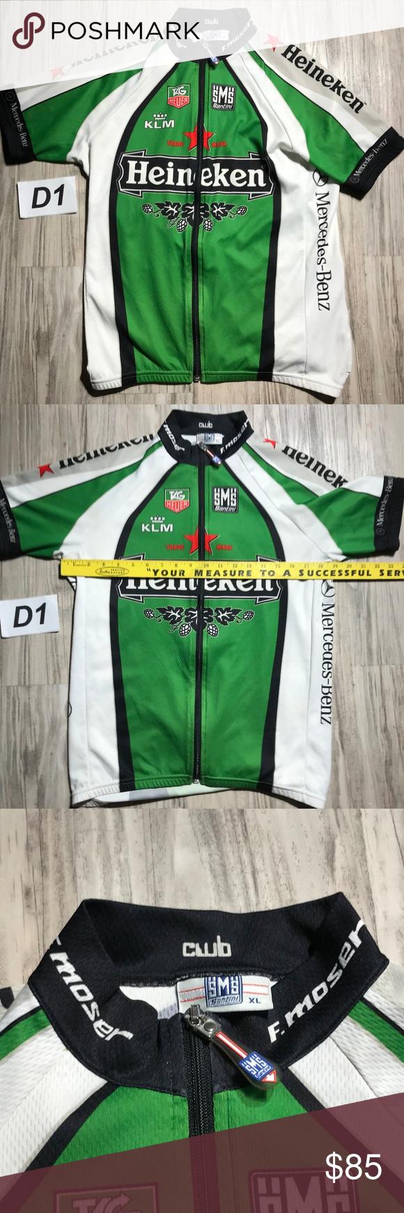 SMS Cycle Jersey Heineken Tag Hauer Mercedes Benz SMS Santini Cycling  Jersey Mens Heineken f6af7f519