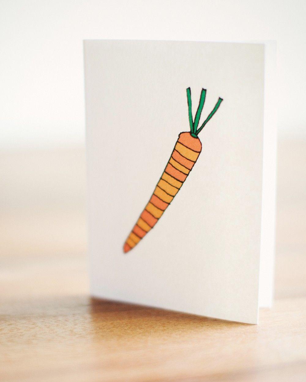 Cute Carrot Card
