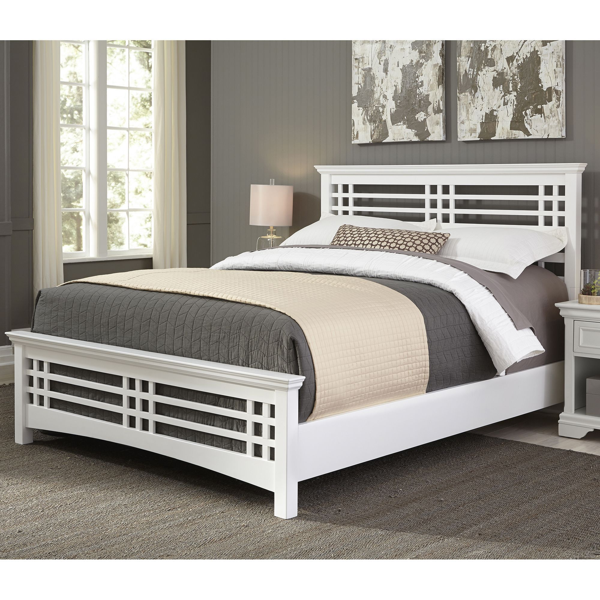 avery complete bed with wood frame and mission style design full