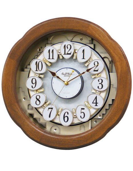 Rhythm angel blossom ii magic motion musical wall clock light rhythm angel blossom ii magic motion musical wall clock light oak wood case aloadofball Choice Image
