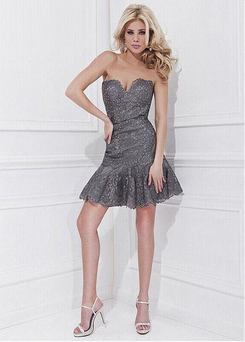 Stunning Tulle Sweetheart Neckline Short Sheath Homecoming Dress ...