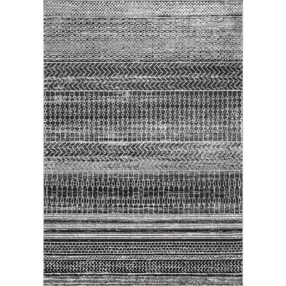 Nuloom Nova Stripes Dark Gray 9 Ft 10 In X 14 Ft Area Rug