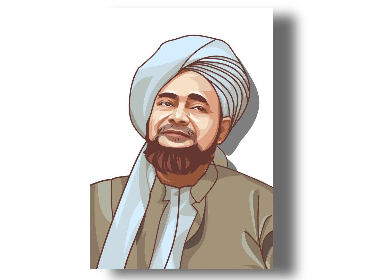 Habib Umar Bin Hafidz Kartun Ilustrasi Gambar Tokoh