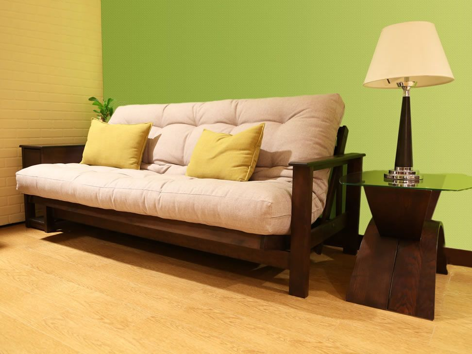 Sof cama contempor neo chocolate macao liverpool es parte for Sofas altos y comodos