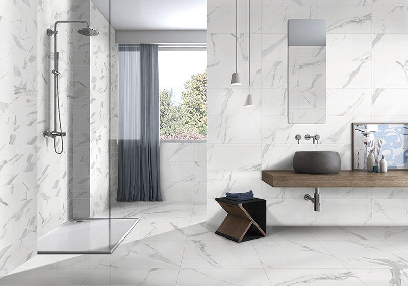ITT Ceramic - Ceramic tiles look like Carrara marble
