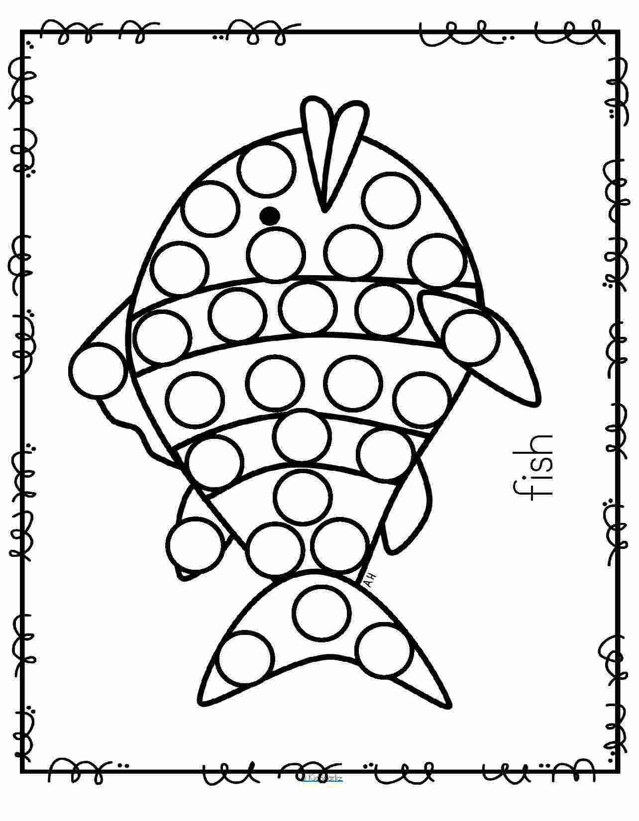 Coloring Pages Dot Marker Coloring Pages
