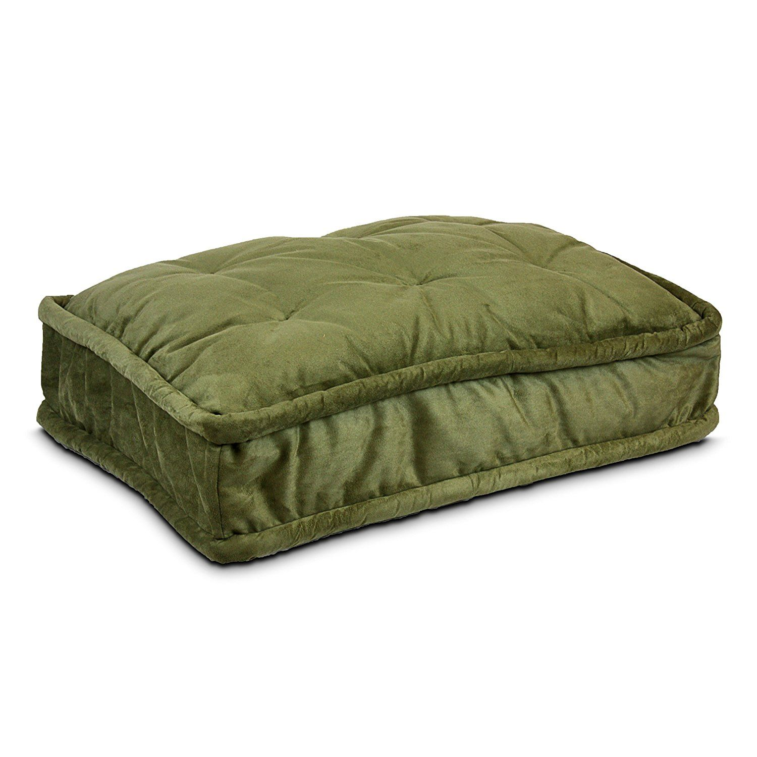 Snoozer Pillow Top Pet Bed, Large, Olive You can find