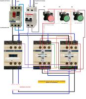 Diagrama inversor de giro motor trifasico