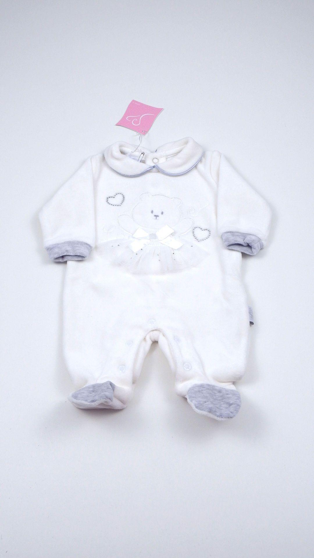 Tutina neonata Les Jolies aperta sotto e dietro realizzata in ...