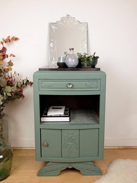 Art deco black marble top nightstand meubles revaloris s brocante en ligne mobilier de - Top deco meuble ...