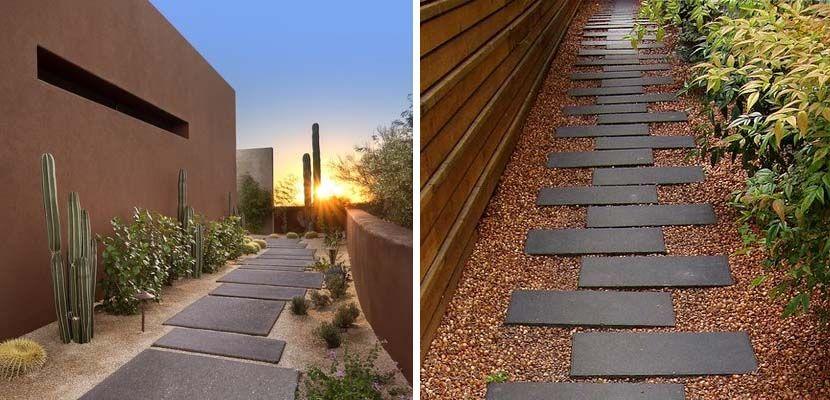 Construye un camino para tu jard n de piedra gardens - Camino de piedras para jardin ...