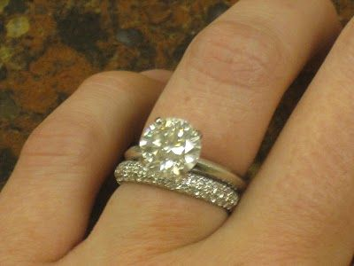 Round Brilliant Solitaire Engagement Ring with 3 sided domed pave