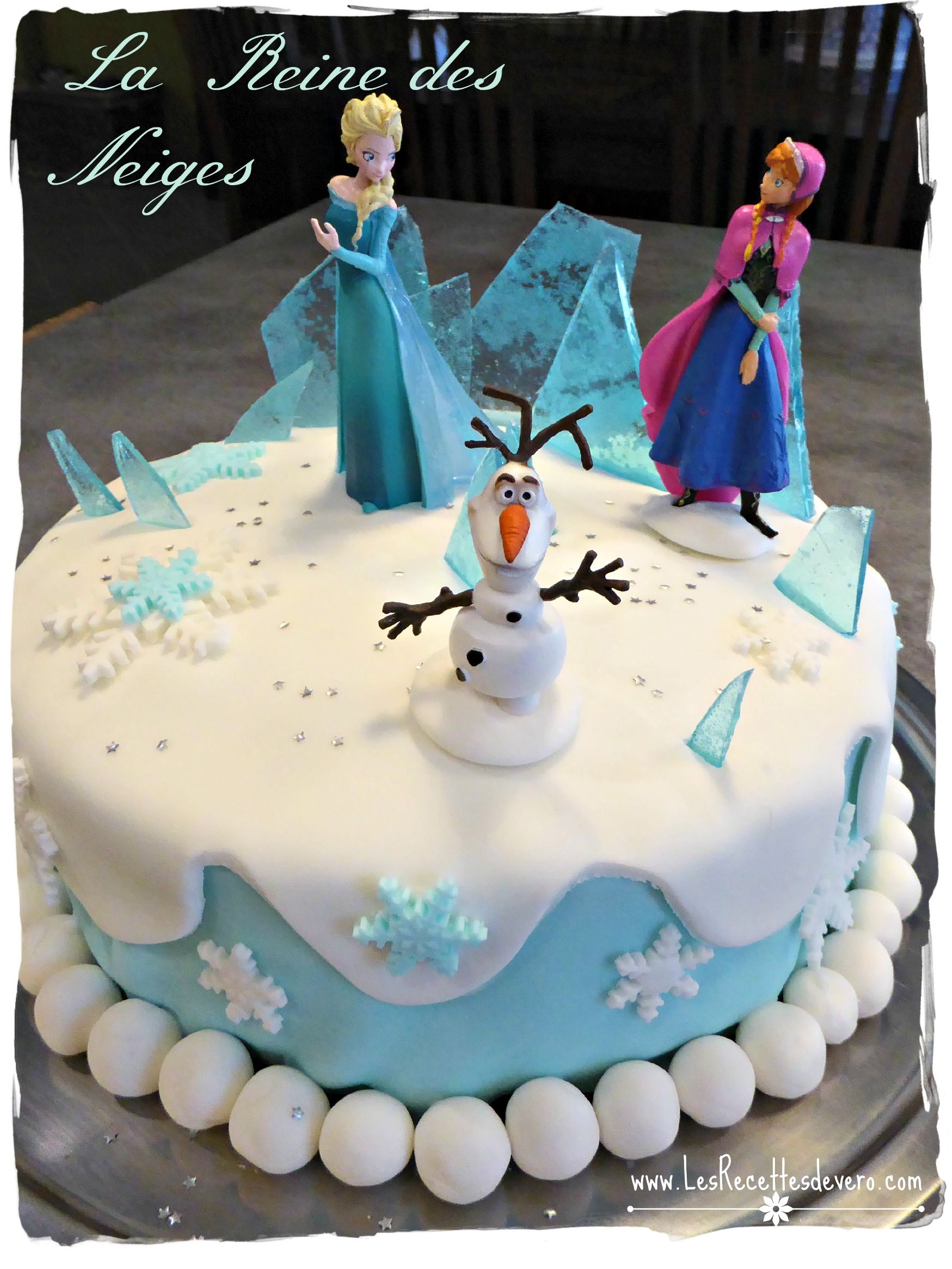 Model de gateau reine des neiges