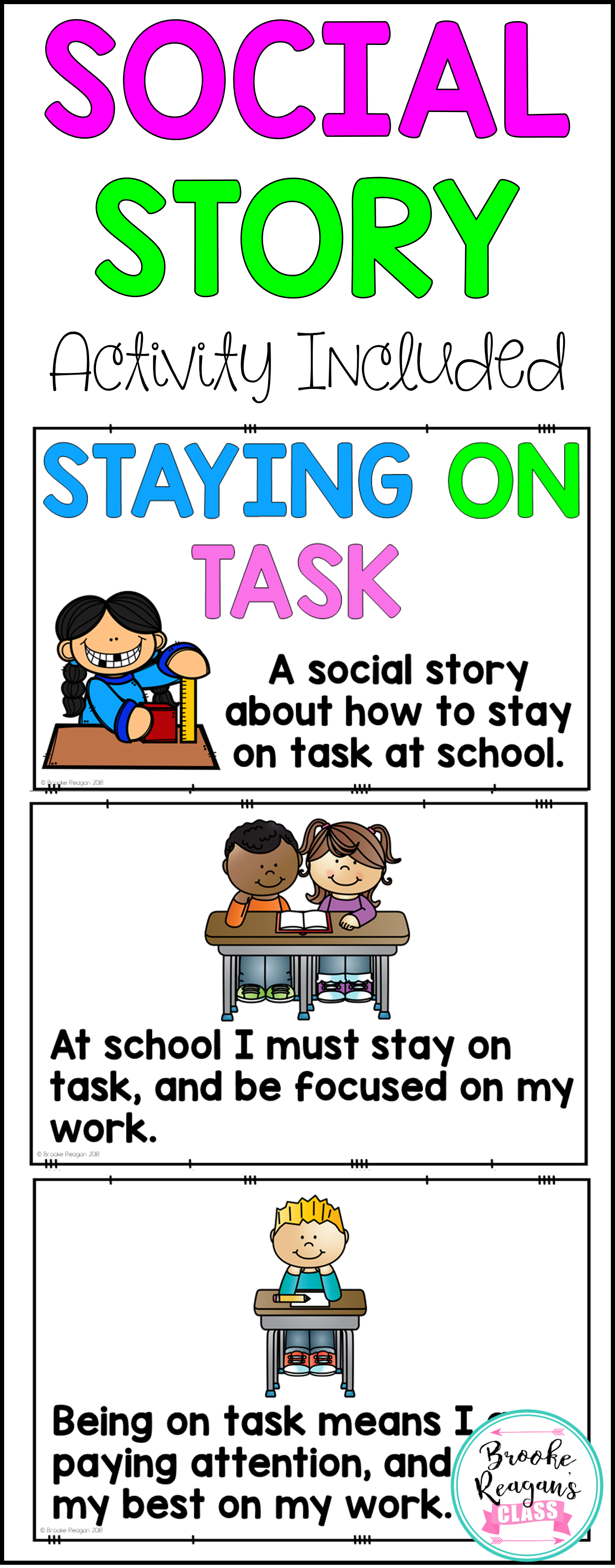 Social Story Staying On Task