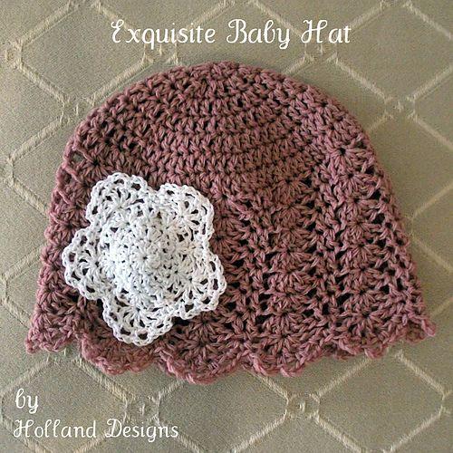 Exquisite Baby Hat Pattern By Lisa Van Klaveren Baby Hats Baby