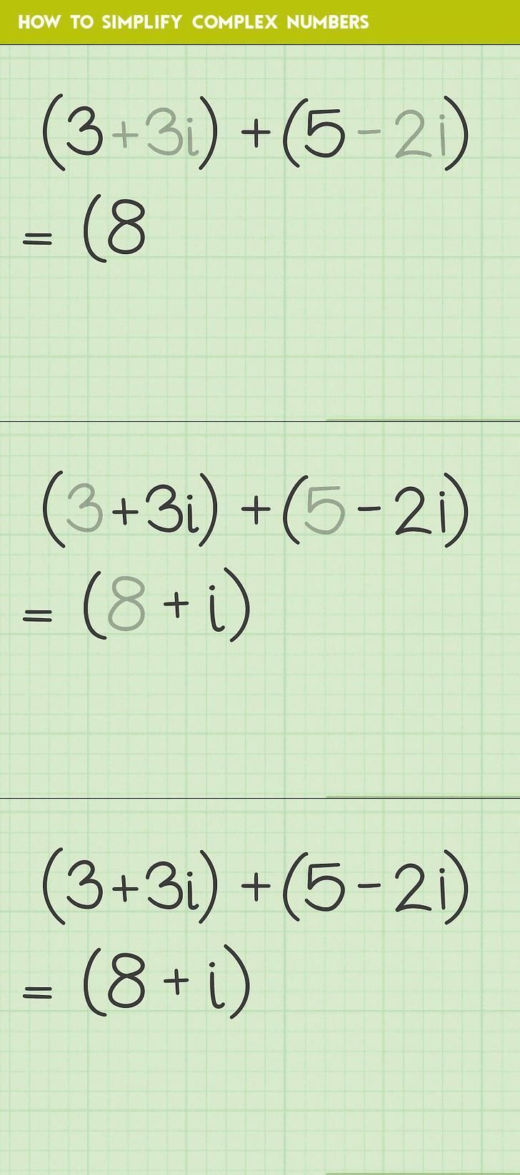 How To Simplify Complex Numbers You Wanna Know How Complex Numbers Number Worksheets Worksheet Template Adding and subtracting complex numbers
