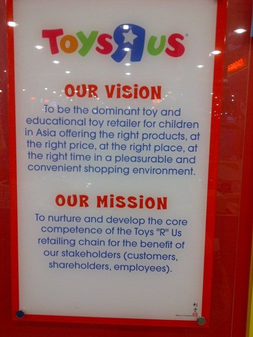 Toys R Us Asia Pacific Vision And Mission Really