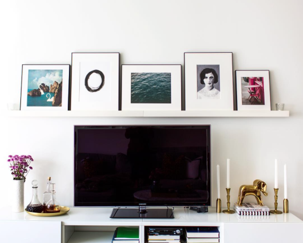 Tv Stand With An Art Gallery Ledge