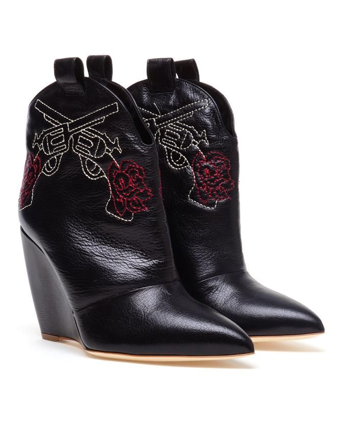 Browns fashion & designer clothes & clothing | RUPERT SANDERSON | Leather Wedged Cowboy Boots