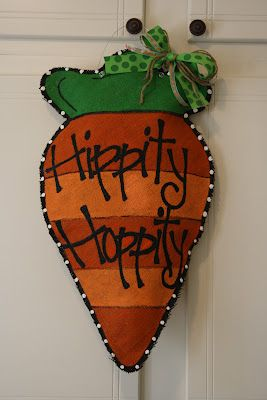 Springtime is officially H-E-R-E and, ready or not, Easter is right around the corner. To help me get into the spirit, I've been busy making some fun burlap door hangers that are just right for this season and bursting with bright, juicy colors. Speaking of juicy, don't you just want to sink your te