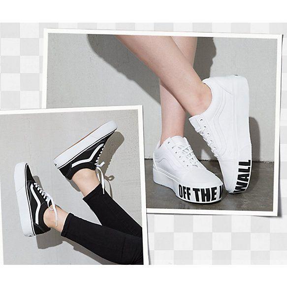 Old Skool Platform Shop Shoes Shoes Platform Vans Skate Shoes