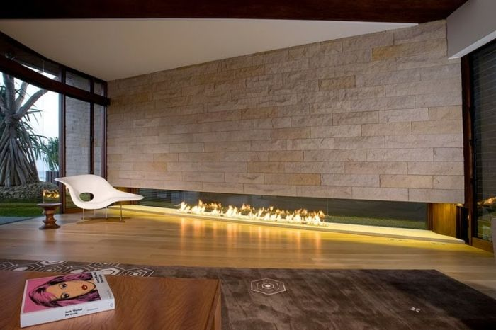 Design wohnzimmer mit kamin  kamin design eingebaut wandgestaltung ethanol | Wohnzimmer ...
