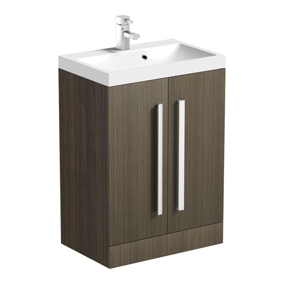 Orchard Wye Walnut Floorstanding Vanity Unit And Basin 600mm