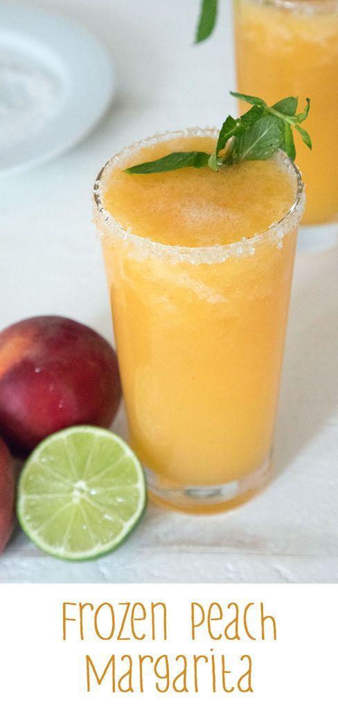 Gefrorene Pfirsich-Margarita - Diese Margarita wird aus frischen Pfirsichen und ... #frozenmargaritarecipes