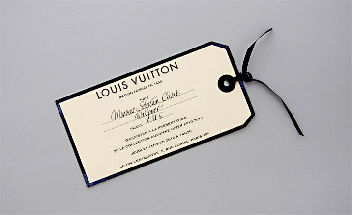 Louis Vuitton Invite Hang Tag Show Invites Pinterest Hang tags - hang tag template