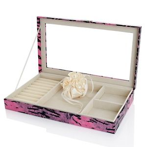 Hsn Jewelry Boxes Extraordinary Colleen's Prestige™ Animalprint Large Stackable Jewelry Box At Hsn Decorating Design