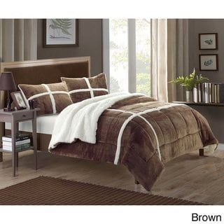 Copper Grove Otter River Lined Plush Microsuede 3 Piece Comforter Set Comforter Sets Home Chic Home