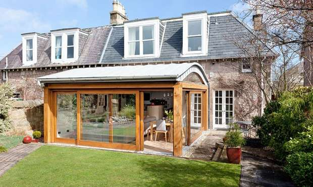 Innovative roof design to avoid existing roof line An oak and ...