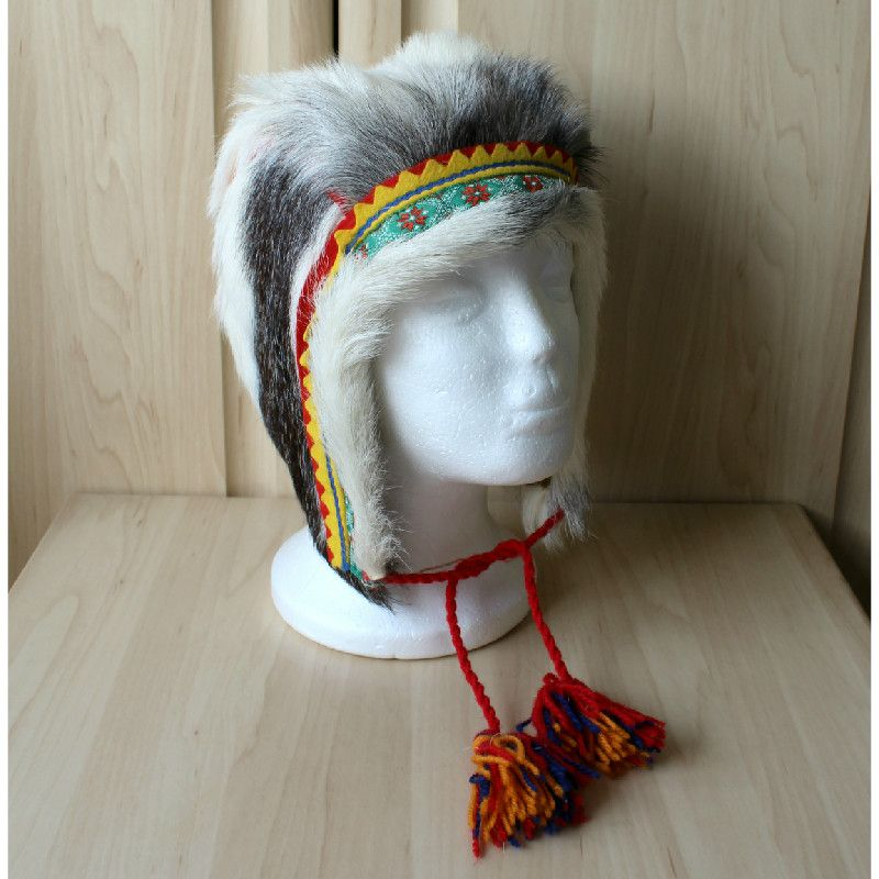 A traditional hat from the Sami people of Finland. | Fur Hats ...