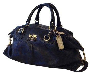 e446530ebb Coach Madison Sabrina Black Leather Satchel 52% off retail   Fab ...