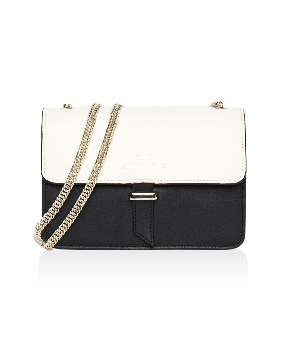 a00cd82abc9 Juliet - Mini Chain Bag in Black/Ivory Karen Walker, Black Bags, Satchel